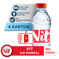 Beli 4 Box VIT Air Mineral 330ml GRATIS Shopping Bag VIT