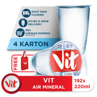 Beli 4 Box VIT Air Mineral 220ml GRATIS Shopping Bag VIT