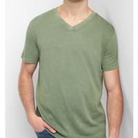 G.A.P Basic Vncek Tshirt Original - Kaos Pria V-Neck JUMBO SIZE GP78