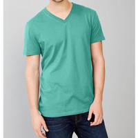 G.A.P Basic Vncek Tshirt Original - Kaos Pria V-Neck JUMBO SIZE GP79