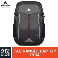 Eiger Mountrians Laptop Backpack 25L - Black