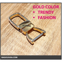GANTUNGAN KUNCI METAL UNIK HORSESHOE FASHION PREMIUM HQ - WARNA EMAS