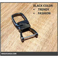 KEYCHAIN METAL TRENDY UNIQUE HORSESHOE FASHION PREMIUM HQ - BLACK