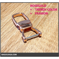 KEYCHAIN METAL TRENDY UNIQUE HORSESHOE FASHION PREMIUM HQ - ROSEGOLD