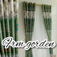 gorden blackout perinting motif tinta emas size T 240cm L 130cm