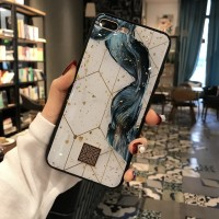 Luxury Gold Foil Marble Bling Phone Case For iPhone Silicone Cover