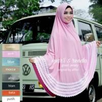terbaru Jilbab 5 hijab renda termurah Instan jumbo Syari Khimar Jilbab