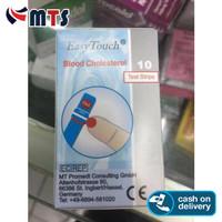 Easy Touch Kolesterol Cholestero lTest Strip Isi 10 Strip Easytouch