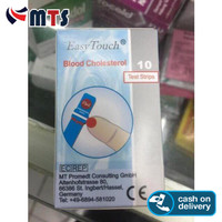 MURAHHHH!!! Easy Touch Cholestrol Test Strip Isi 10 Strip