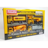 Mainan Anak DIECAST CONSTRUCTION CAR 4 PCS BESAR F10