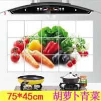 TERMURAH 1 PC 75*45 Cm Dapur Stiker Dinding untuk Asap Knalpot Foil