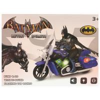 Mainan Anak Batman Motor cycle Bump-Go with Light and Music