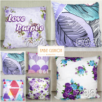 EMBIE CUSHION - Sarung Bantal Sofa / Cushion, 40x40 cm, Love Purple