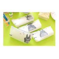 TP030 Tempat Pensil Silicone White Totoro / Tempat Kosmetik