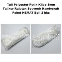 Tali Polyester PUTIH TaliKur Rajutan Aksesoris Souvenir Handycraft 2pc