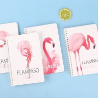 Notebook Flamingo jilid spiral / Buku catatan bergaris lucu