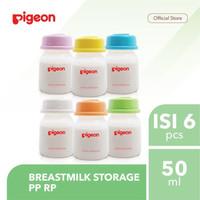 Pigeon Breastmilk Storage Bottle 50ml Botol Penyimpan ASIP 6in1