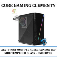 CASING PC CUBE GAMING CLEMENTY - FRONT MULTIPLE MODES RAINBOW LED