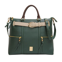 Les Catino New York Fifth Avenue Belt Tote Janish Green