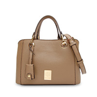 Les Catino New York Queens Pc Satchel M Taupe Grey