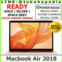 "Macbook Air 2018 13"" Inch, 256GB / 8GB Grey, Gold, Silver MREF2 MRE92"
