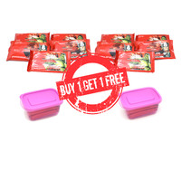 Buy 1 get 1 Free 5 pack TISU BASAH UNITEI / WET TISSUE BONUS LUNCH BOX