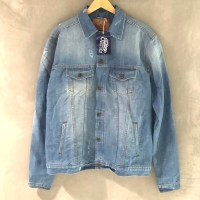 Eastlore Jacket Jeans Wash BIGSIZE ORIGINAL - Jaket Pria Denim JUMBO