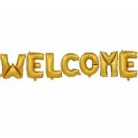 Balon Huruf Foil tulisan WELCOME