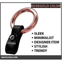 KEYCHAIN LEATHER HIGH QUALITY FASHION TREND - ROSEGOLD