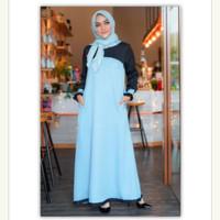 Gamis Dewasa Murah Original Rocella Dress Khanza Gamis Casual Moscrepe