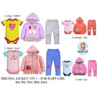 BRENDA JACKET 3 IN 1 BABY GIRL / CARTER BABY JUMPER SET / JAKET BAYI