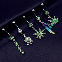 5pcs Anting Pusar Tindik Perut Navel Piercing Belly Ring