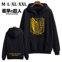 SWEATER ATTACK ON TITAN RECON CORPS GOLD