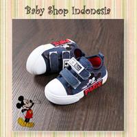 Sepatu Anak Cowok Murah Mickey Sneakers Anak Denim Mickey Mouse