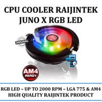 CPU Cooler Raijintek Juno X RGB Led - Unique radial fin design