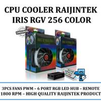 Raijintek IRIS 12 Rainbow RGB 256 color - 3 Pcs Fans PWM - 6 port RGB