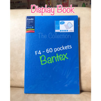 ATK0686BX 60 pocket F4 Display Book 3187xx Bantex Clear Holder Folio