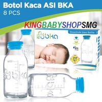 BKA Breastmilk Glass Bottle / Botol Penyimpanan ASI BKA