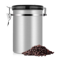 COFFEE STORAGE WITH VALVE + DATE 1800ML - TOPLES KOPI KEDAP UDARA