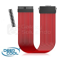 Deepcool ATX 24 Pin Extension Sleeved Cable Red + Cable COMB