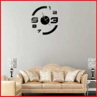 Jam Dinding Angka Besar Bahan Kaca Akrilik Ruangan Makin Cantik