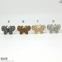 Bros Dada Berlian Permata Import Mewah - Aksesoris Hijab Jilbab B243