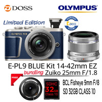 Olympus E-PL9 Blue Kit 14-42mm EZ + 25mm F1.8