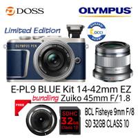 Olympus E-PL9 Blue Kit 14-42mm EZ + 45mm F1.8