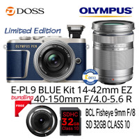 Olympus E-PL9 Blue Kit 14-42mm EZ + 40-150mm F4-5.6