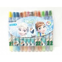 Crayon Putar Isi 12 Karakter Frozen Mewarnai Anak Perempuan A