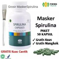 Masker Wajah Spirulina / Herbal / Obat Jerawat - PAKET 50 KAPSUL
