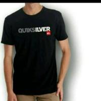 Tshirt/kaos/baju pria BIG SIZE XXXL-XXXXL QUICKSILVER HITAM/KAOS keren