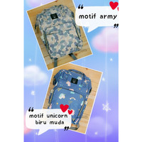 Tas susu Bayi waterproof TSL003 Diaper Bag Unicorn Army travel