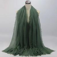 Linen Daily Women Scarf Plain Hijab Fashion Scarf Pashmina
